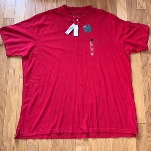 NWT Covington Big & Tall Red Polo Shirt 3X XXXLT